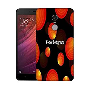 Snoogg Vector Background Designer Protective Phone Back Case Cover For Xiaomi Redmi Note 4