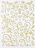 Sticker pailleté adhésif - Arabesque - Doré - Graines créatives