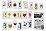 Bada Bing 85 tlg. Erweiterungsset Buchstaben Bunt für Leuchtschild Buchstaben Zeichen Symbole Einhorn Bierkrug Emoji Lightbox 49