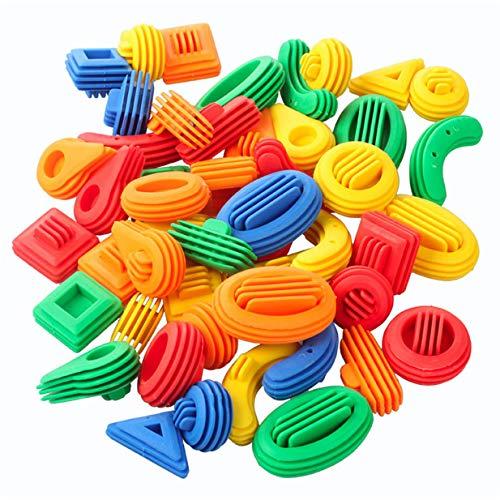 EJY Enfants DIY Plastique 3D Blocs de Construction Éducatifs Jouets Enfants Construction Puzzle Jouet