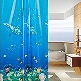 powerlead Schimmelresistent Wasserdicht Duschvorhang 182,9x 182,9cm mit Zimmerdekorations-World Design