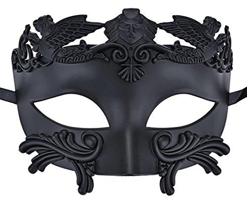 ke Römisch Griechisch Party Maske Mardi Gras Halloween Maske (Schwarz) (Gladiator Halloween-kostüme)