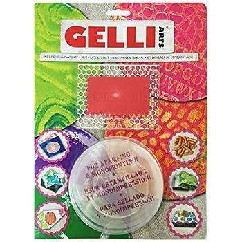 Gelli Arts Minis Rund Druck Teller transparent