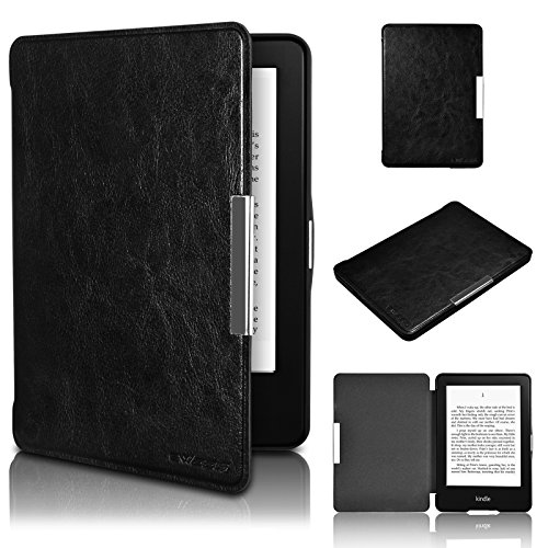 Swees - Cubierta y funda case de PU cuero artificial para el Amazon Kindle 7th Generación (Octubre 2014) - Con Auto Sleep/Wake Function (No aptos para otros dispositivos Kindle) -