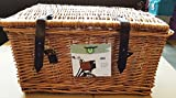 Zonix Fahrradkorb aus Rattan mit Deckel für Vorne - Größe L - 48 x 36 x 26 cm - Hollandrad Fahrrad Deko Aufbewahrung Kiste (Hell Braun)