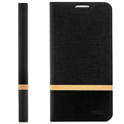 zanasta Designs Tasche Huawei Y625 Hülle Flip Case Schutzhülle Handytasche mit Kartenfach Schwarz