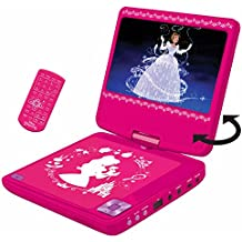 Lexibook DVDP6DP Disney Princess Portable Dvd Player with Car Adaptor and Remote