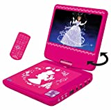 Lexibook DVDP6DP Disney Princess Tragbarer DVD-Player mit Auto-Adapter und Fernbedienung