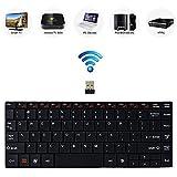 Bestdeal Hoch Qualität Aluminium Körper Ultra Dünn Mini Kompakt Wireless QWERTY Tastatur mit Multimedia Hot Keys für LG Smart TV 0UF851V & 65UF851V & 49UF8507 & 55UF8507 & 60UF850V & 65UF850V