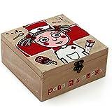Dcasa - Caja de pino diseño frases 'Para mis Pupas ' 20 x 20 x 9 cm .