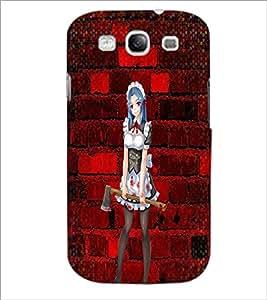 PrintDhaba Axe Girl D-2938 Back Case Cover for SAMSUNG GALAXY S3 (Multi-Coloured)