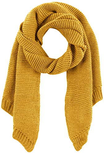 PIECES Damen Schal PCDACE Long Wool Scarf NOOS, Gelb Nugget Gold, One Size