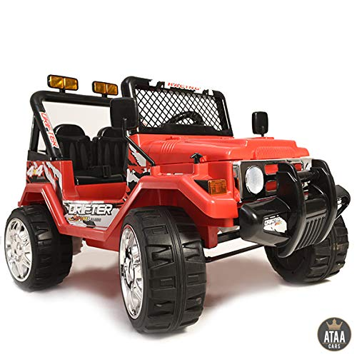 ATAA CARS Voiture électrique Enfants Jeep Style Batterie 12v Telecommande - Rouge