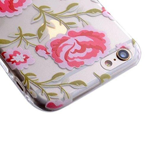 TIODIO® 4 en 1 Ultra Mince Soft Flexible TPU Coque Étui Housse Protecteur Cover Case pour Apple iPhone 5S E/ iPhone 5S, Stylus et Film protecteur inclus, A27 A19