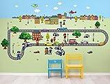 I-love-Wandtattoo WAS-10021 Wandsticker Kinderzimmer Straße Wandtattoo Wandaufkleber Sticker Aufkleber