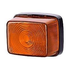 1x arancione luce di indicatore laterale 12V 24V e-contrassegnato auto camion rimorchio luce di posizione illuminazione Outline Quadrat quadrato ambra universale lampadina