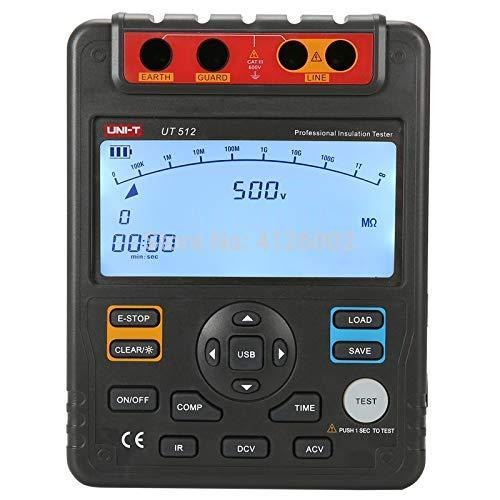 UT512 Isolationswiderstandstester; 2500 V Megaohm, Datenspeicherung/Analoges Balkendiagramm/DAR/USB-Datenübertragung/LCD-Hintergrundbeleuchtung 2500 Analoge