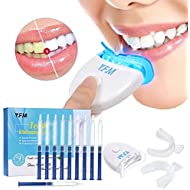 Teeth Whitening Kit Y.F.M Professional Teeth Whiten Gel Kit Tooth Bleaching Kit Including 10 Teeth Whitening Gel + 1 White-light + 2 Mouth Tray