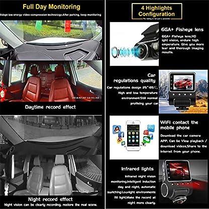 Auto-Mini-versteckte-360-Grad-Panorama-DVR-mit-Wifi-Infrarot-Nachtsicht-Weitwinkel-WDR-Video-Dual-Channel-Front-und-Hinterauto-Aufnahme-Dash-Kamera