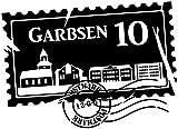 Wandtattoo Skyline Garbsen Stadt Stamps Briefmarke Marke Wand Aufkleber Türaufkleber Möbelaufkleber Autoaufkleber Wohnzimmer 5M192, Farbe:Lavendel glanz, Breite vom Motiv:55cm