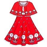 Sunny Fashion Vestito Bambina Babbo Rosso Mantello del Capo Natale Anno 6 Anni