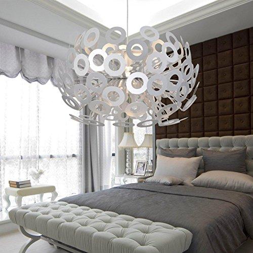 lampadario in alluminio semplice ed elegante soggiorno