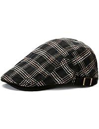 Gorras Gatsby Boinas Hombres Mujeres Retro Cuadrícula Al Aire Libre  Deportes Verano Sombrero para ... f1488e7afc9