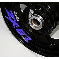 EUFBA Kawasaki ZX6R Motorradfelge Aufkleber Aufkleber Streifen Refletive Blue