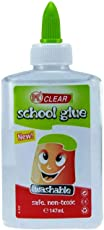 KABEER Art DIY Clear School Glue 147ml Washable Glue Gel Ideal for Paper, Cloth,Slime, Craft Non Toxic
