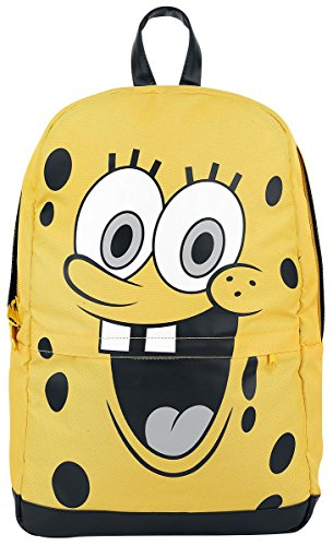 SpongeBob SquarePants Happy Face Mochila amarillo/negro