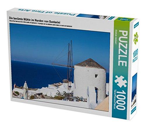 Preisvergleich Produktbild Die berümte Mühle im Norden von Santorini 1000 Teile Puzzle quer (CALVENDO Orte)