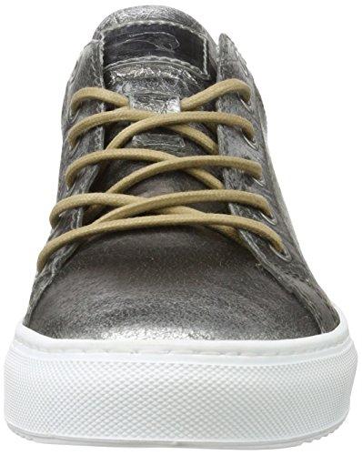 Mjus 360106-0501, Sneaker Basse Uomo Schwarz (Nero/Nero/Argento)