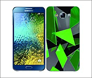 Galaxy Printed 2112 Glass Fragments Green Hard Cover for Samsung E7