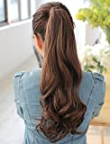 #10: Curly Wavy Synthetic Ponytail Hair Extension / Curly Wrap Around Ponytail Hair Extensions Long Hairpiece For Women (Dark Brown)