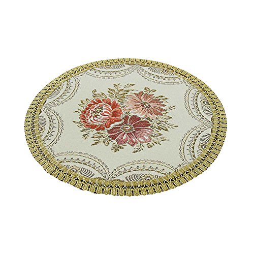 2 Pcs Table style napperons européenne Tissu napperons napperons ronds