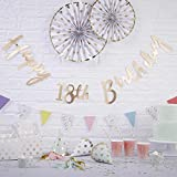 Pick and Mix - Gold Happy 18th Birthday Bunting