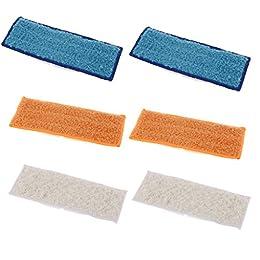 sharplace 6x waschbar wiederverwendbar Wet/Dry/Feuchtwischen Pad Reinigungstuch für iRobot Braava Jet 240241