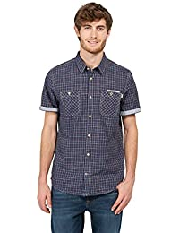 TOM TAILOR Herren Freizeithemd Ray Cool Slub Check Shirt