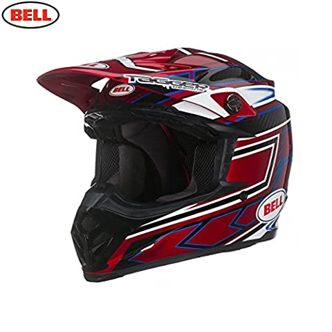 Bell Powersports Casques Moto 9 Carbon Casque pour Adultes, Tagger Clash Red,XXL