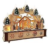 Wichtelstube-Kollektion LED Schwibbogen Jesu Geburt Leuchter Weihnachten Christi Geburt Schwippbogen mit Timer