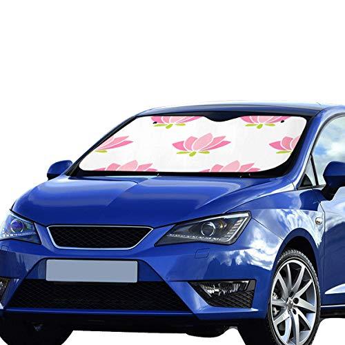 Auto Schatten Sonne Schöne Lotus Blumen Muster Sonnenblende Universal Fit Halten Auto Fahrzeug Kühle Wärme Reflektor Limousinen Geländewagen Lkw 55