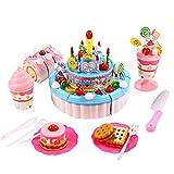 Smibie Kuchenspielzeug Geburtstagstorte Schneiden Spielzeug Küche Essen Kinder Vortäuschen Spielzeug Geschenk zum Geburtstag Weihnachten