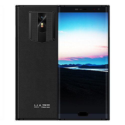MAZE COMET 4G-LTE Smartphone 5,7-Zoll 18: 9 Lünette-less HD Bildschirm, Android 7.0 Octa Core 4GB RAM+64GB ROM, 8 MP + 13MP Kamera 4000mAh Benachrichtigungslicht Leder Cover, Dual SIM Ohne Vertrag