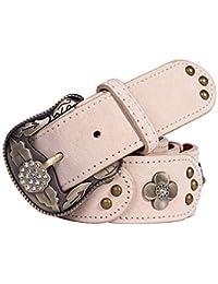 Correas casuales de las señoras de la vendimia Cinturones de cuero de moda  para mujeres con cinturones de damas vintage para… 217e20b6073b