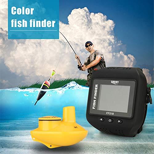 LoMe Watch-Typ Fischfinder, Wireless Sonar visuelle HD Angeln Detektor intelligente wasserdichte Fischfischen tragbare Tiefe Detektor Lowrance-karten