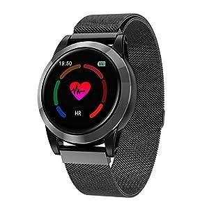 Smart Fitsport Smart Watch R15 Fitnesss Tracker Herzfrequenz Blutdruck Kalorien Schrittzähler Aktivität Tracker Wasserdicht Bluetooth Smartuhr für IOS & Android Smart Handy