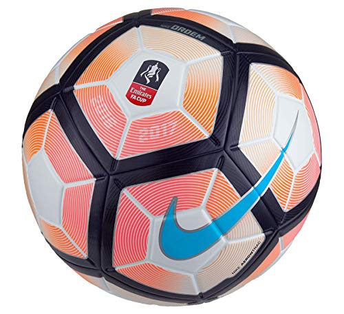 Nike Ordem 4FA Cup-Ball, White, Size 5, used for sale  Delivered anywhere in UK