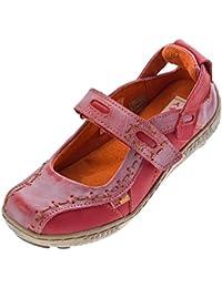 Chaussures en cuir femme ballerina tMA eYES 1601 sandales bleu/noir/blanc taille 36–42 zeitungsdruck/n