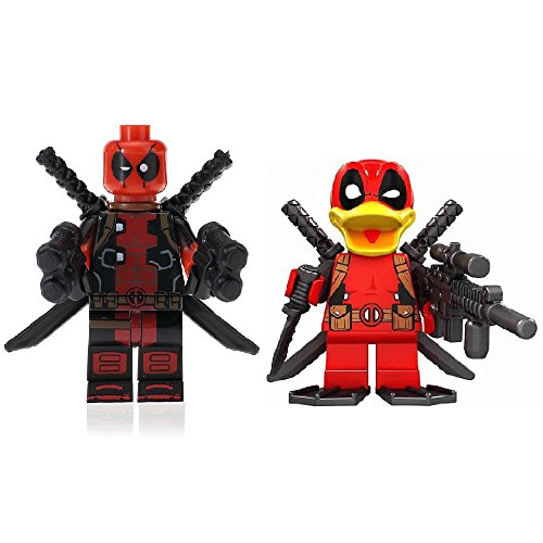 Deadpool-Ente Minifiguren Custom Lego - Lego Marvel Superhelden mit kostenlosem (Deadpool Zubehör)