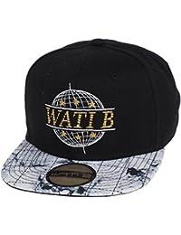 Wati b - Incorp sb noir blanc jr - Casquette américaine - Noir - Taille Unique